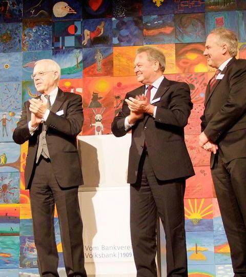 """Showarchitekten für Volksbank – """"100 Jahre – KunstWirWerk"""" / bankhaus, creative production, event, eventproduktion, video, kunden, volksbank,"""